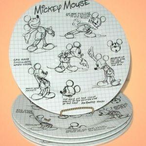 Disney Sketchbook dinner plate set